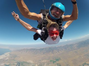 Skydiving in Park City, Utah.