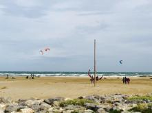 Kite surfers in the South of France.